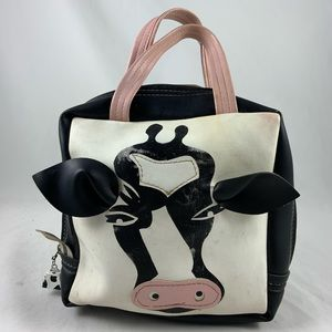 Faux Leather 3D cow bell hand bag